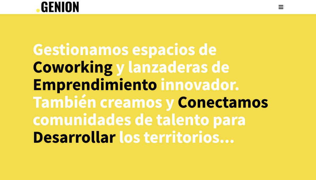 Diseño página web coworking