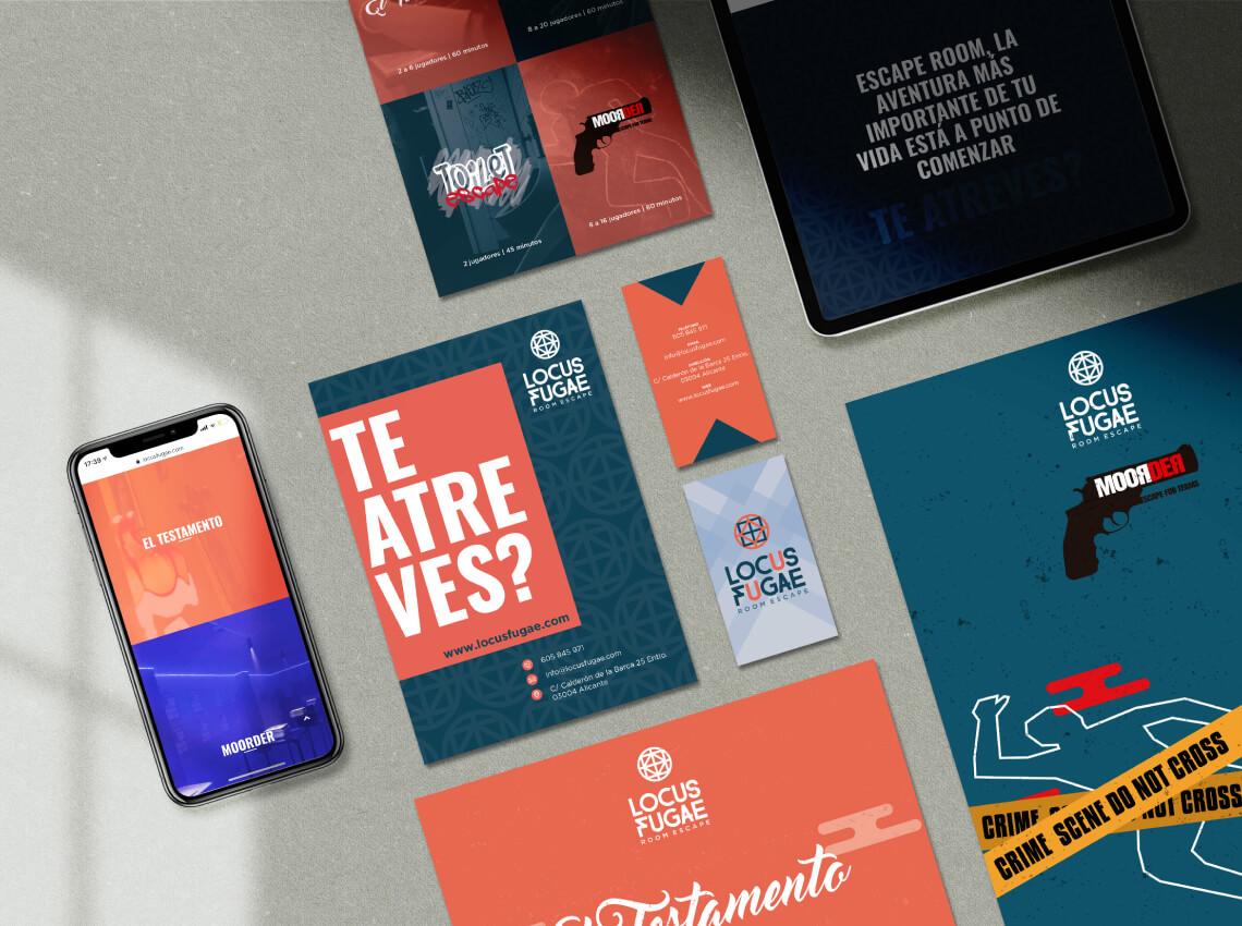 Locus Fugae diseño web room escape Alicante