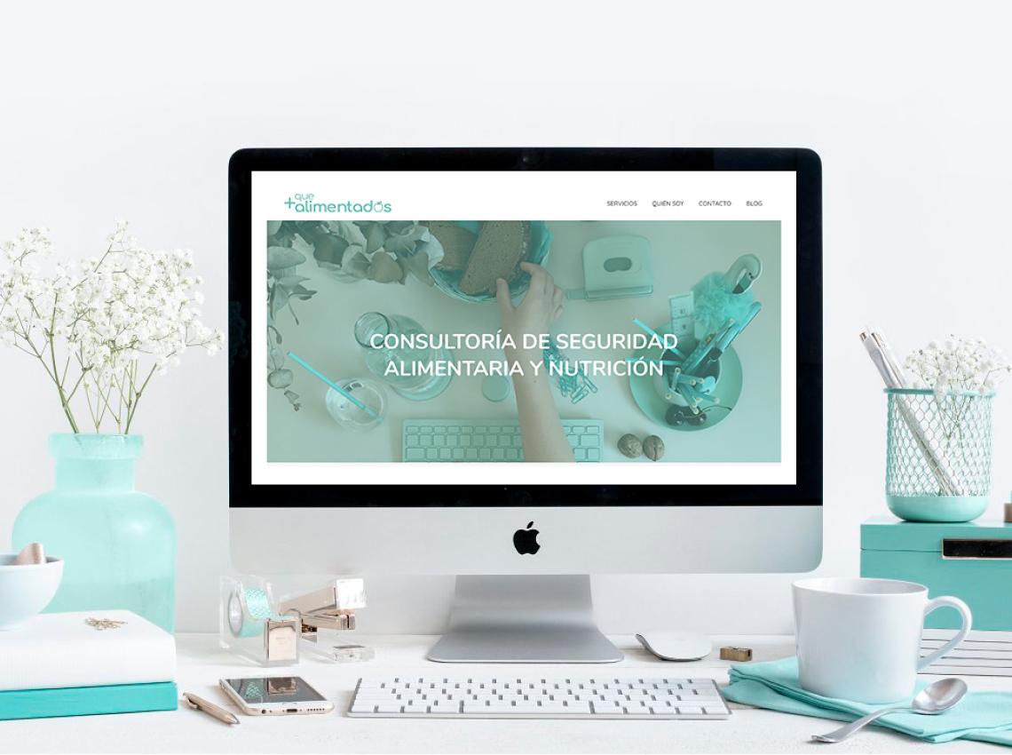 Más que Alimentados, diseño página web nutricionista Alicante