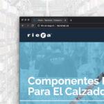 Riera diseño pagina web calzado Elda