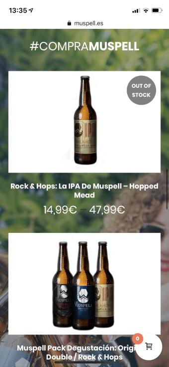 Diseño pagina web cerveza artesanal
