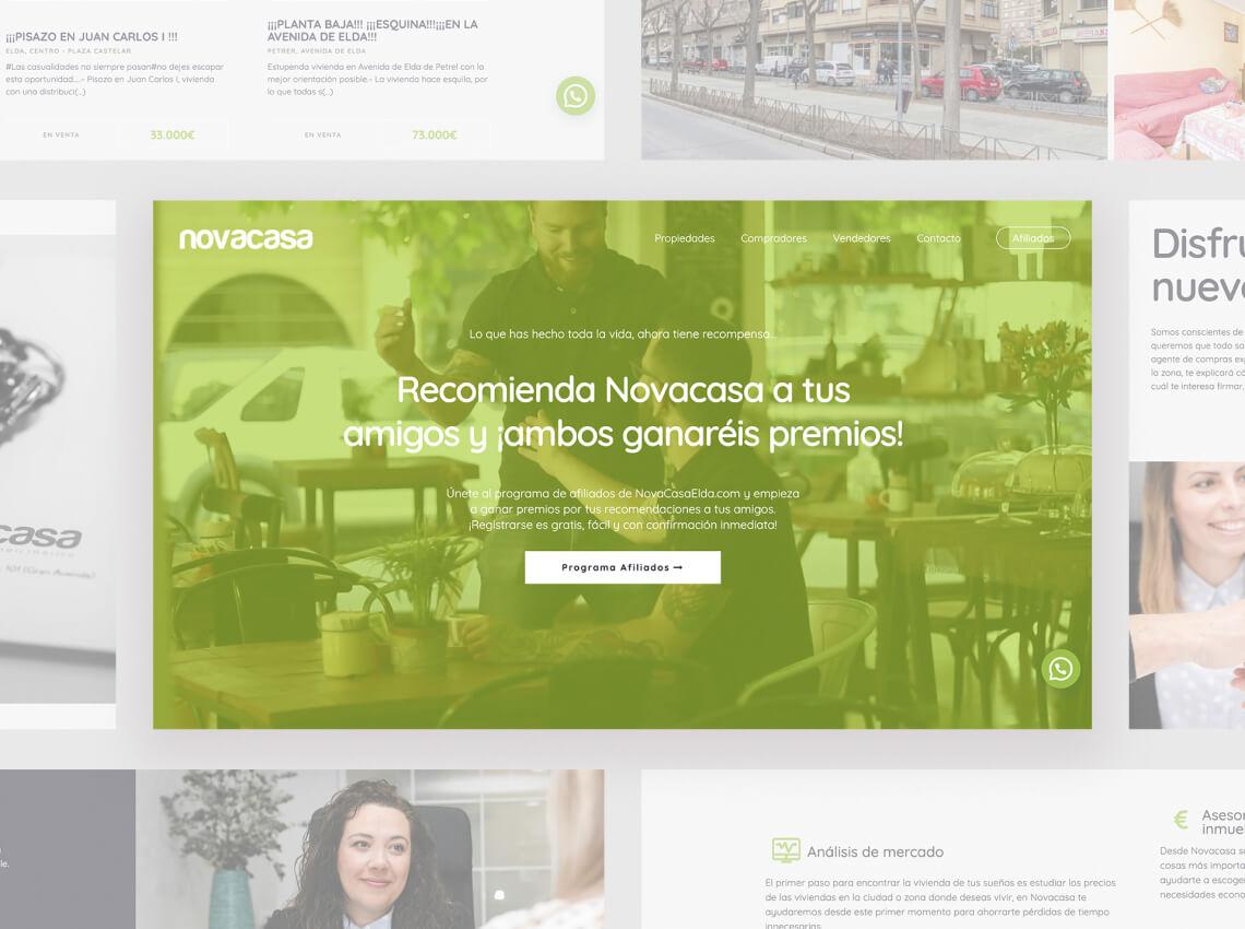 Diseño página web inmobiliaria Elda Petrer
