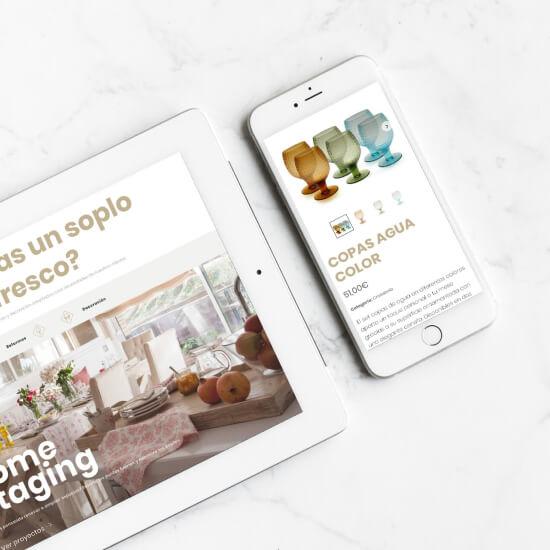 Diseño tienda online interiorismo Asun Antó