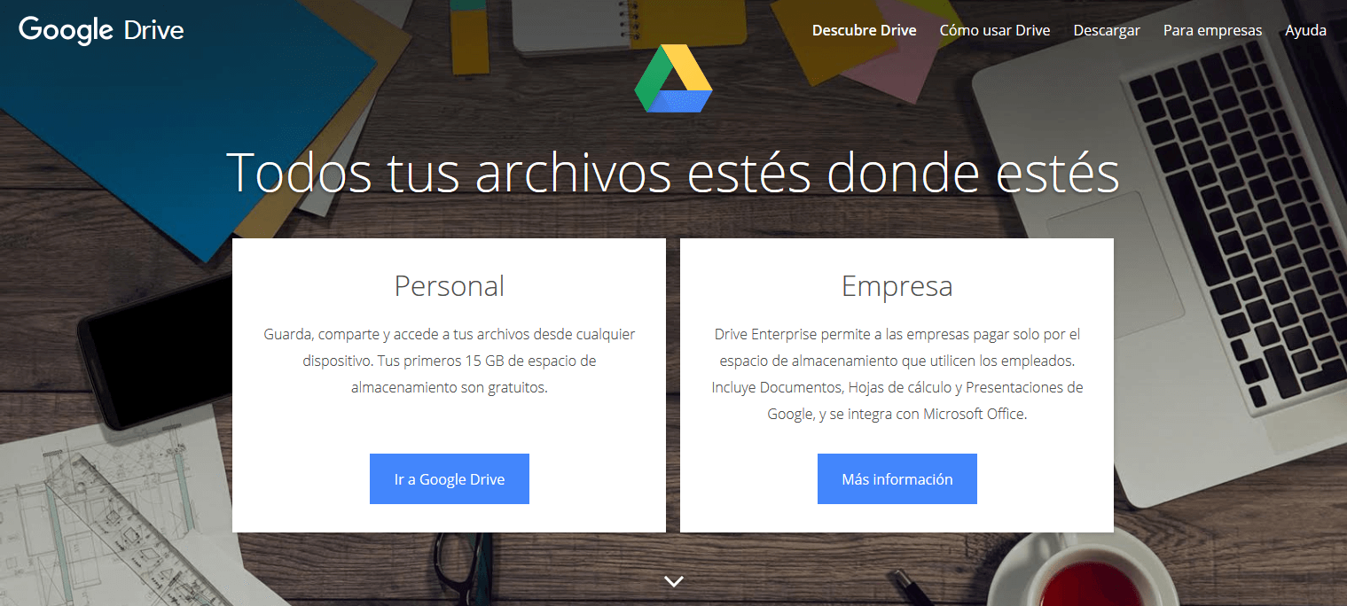 Teletrabajo, herramienta Google Drive
