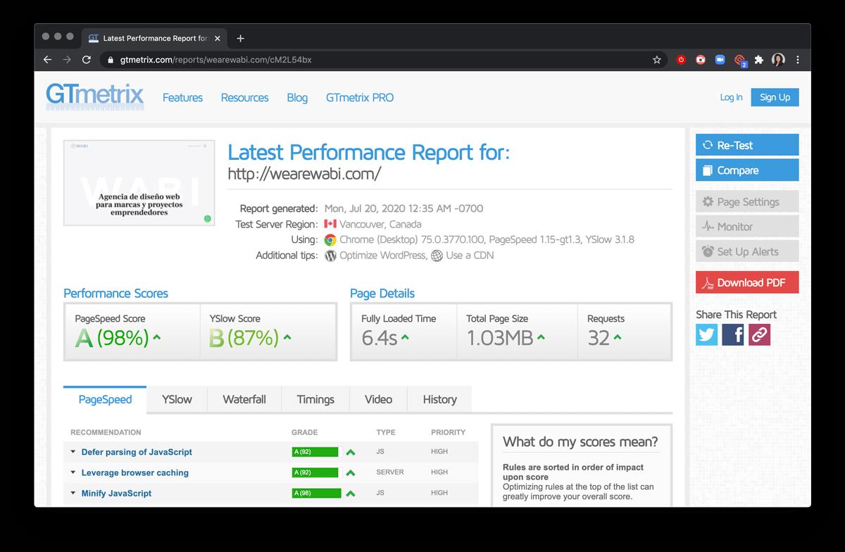 Usabilidad web Optimización