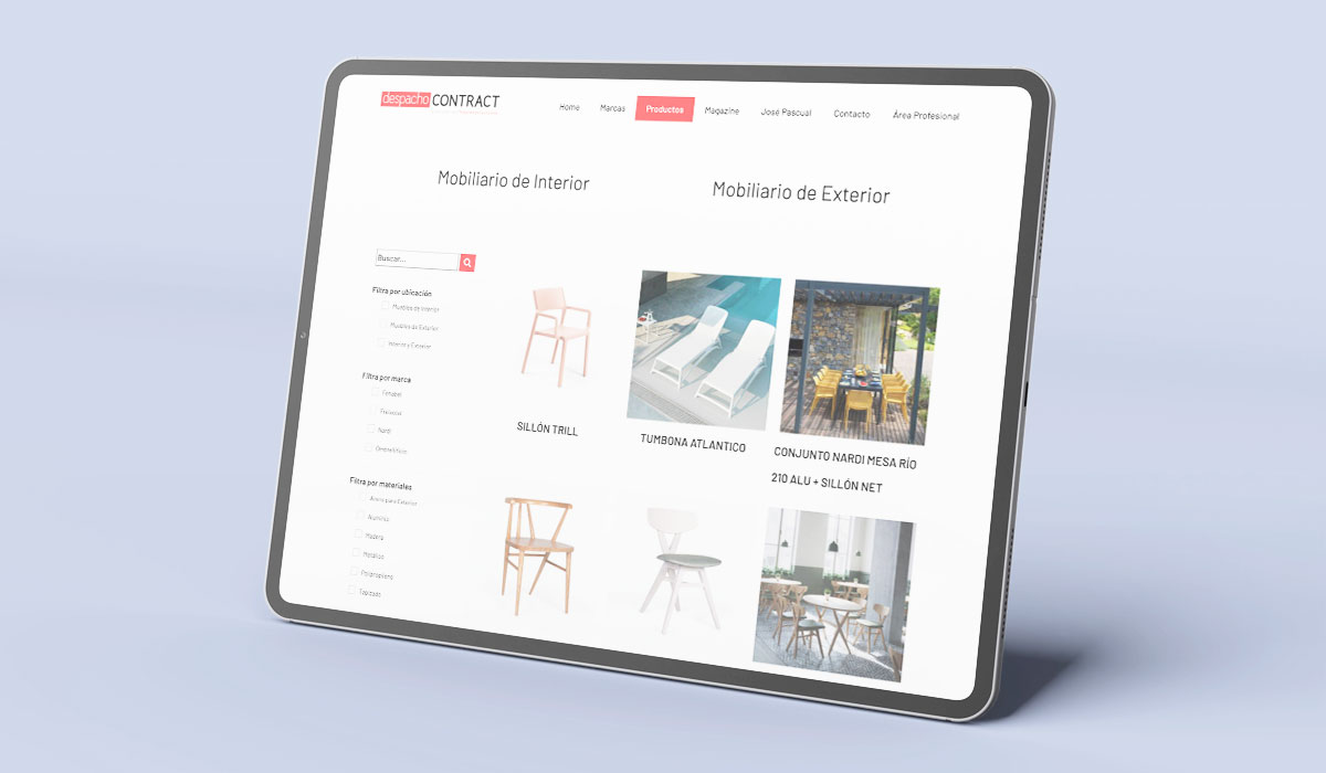 Tipo de web: Catálogo online